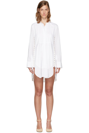 Chloé - White Cotton Button Dress