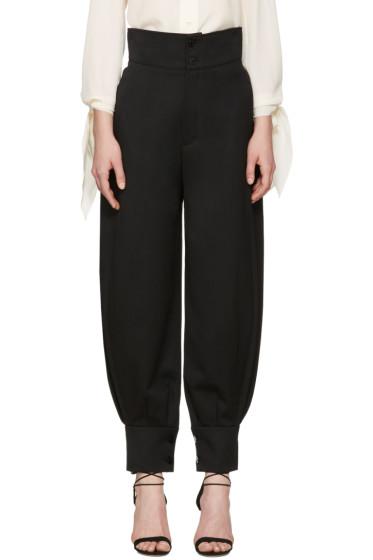 Chloé - Black High-Rise Trousers