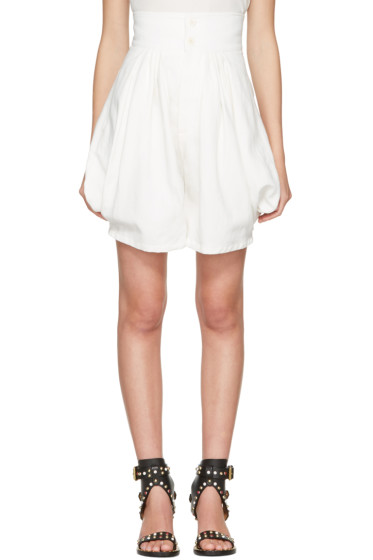 Chloé - Ivory High-Rise Shorts