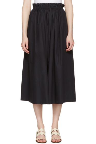Chloé - Navy Cotton Skirt