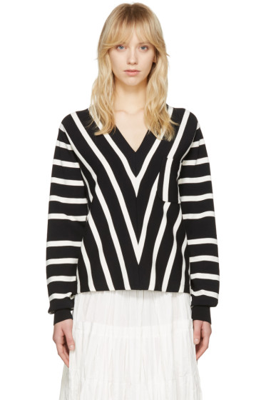 Chloé - Black Striped Sailor Pullover
