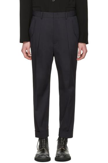 Juun.J - Navy Pleated Trousers
