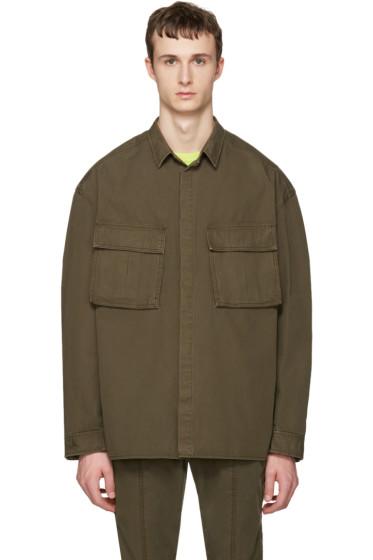 Juun.J - Khaki Oversized Military Shirt