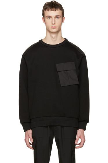 Juun.J - Black Cargo Pocket Pullover