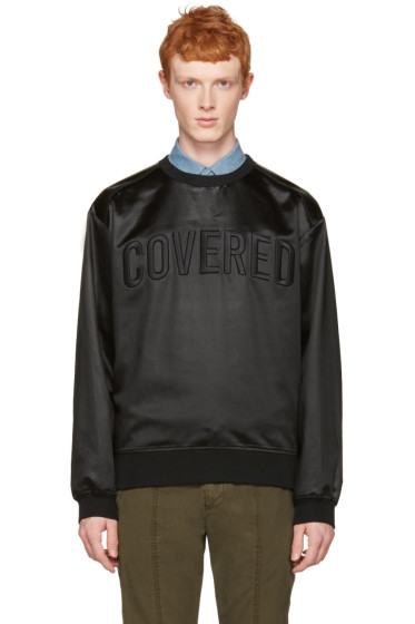 Juun.J - Black Satin 'Covered' Pullover