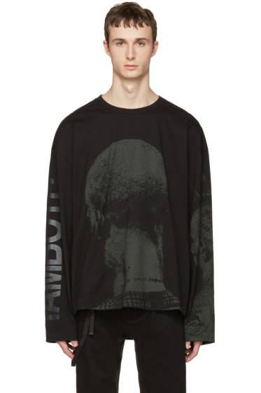 Juun.J - Black Graphic T-Shirt