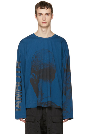 Juun.J - Blue Printed T-Shirt