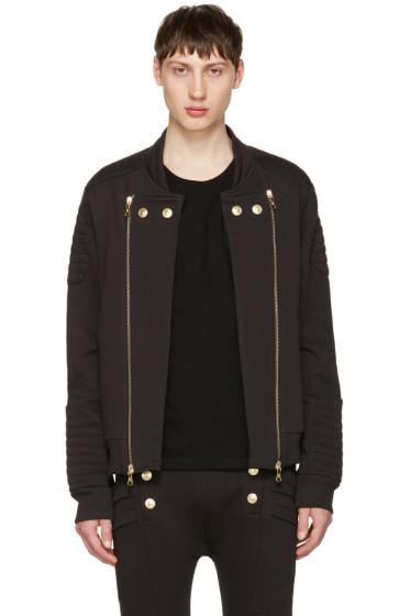 Pierre Balmain - Black Convertible Zip-Up Sweater