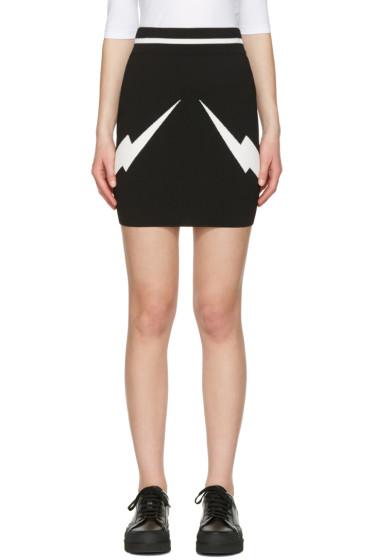 Neil Barrett - Black Thunderbolt Skirt