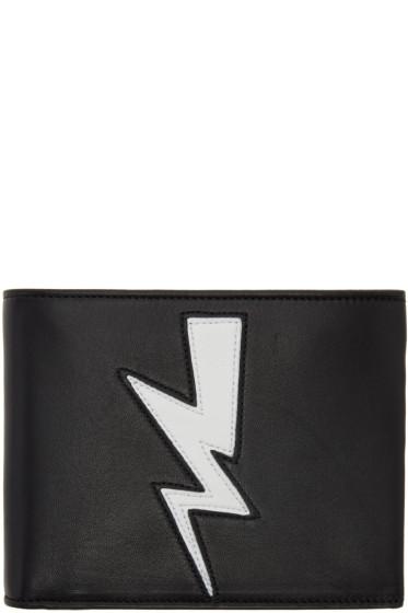 Neil Barrett - Black Tunderbolt Bifold Wallet