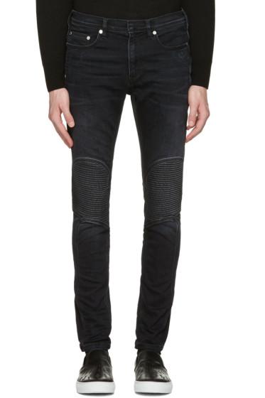 Neil Barrett - Grey Washed Biker Jeans