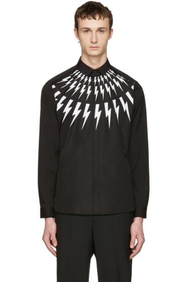 Neil Barrett - Black Thunderbolt Shirt