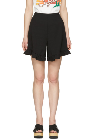 See by Chloé - Black Ruffle Shorts