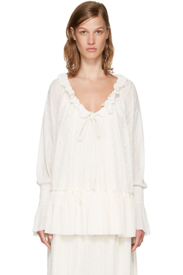 See by Chloé - Off-White Gauze Jersey Blouse