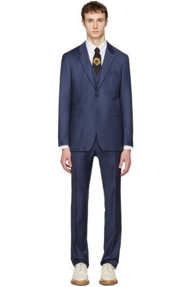 Burberry - Blue Millbank Travel Three-Piece Suit