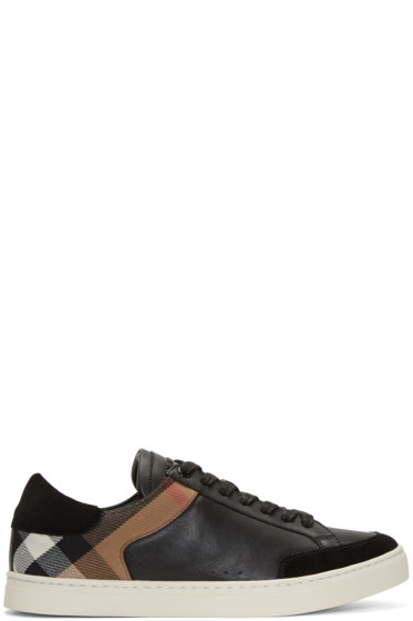 Burberry - Black Rettford Check Sneakers