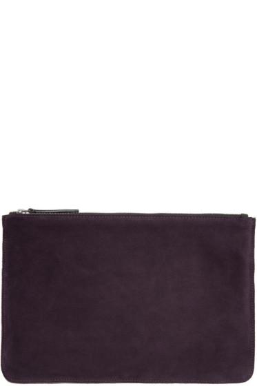 Ann Demeulemeester - Purple Suede Zip Pouch