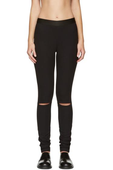 Ann Demeulemeester - Black Knee Slit Trousers