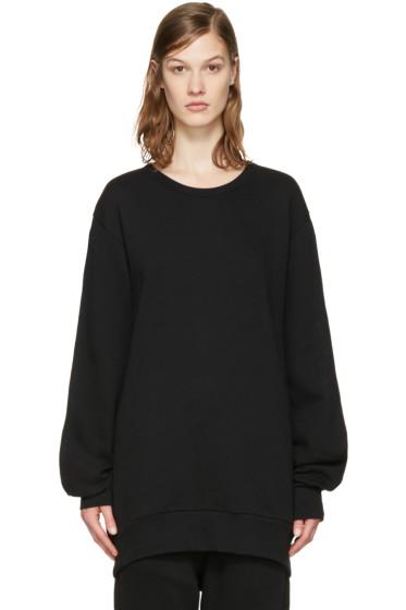 Ann Demeulemeester - Black Slit Sleeves Rodger Pullover