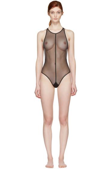 Ann Demeulemeester - Black la fille d'O Edition Soft Tulle Bodysuit