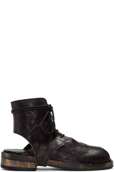 Ann Demeulemeester - Black Cut-Out Boots