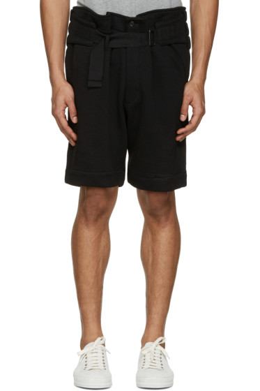 Ann Demeulemeester - Black Belted Shorts