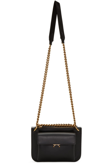 Marni - Black & Grey Bandoleer Bag