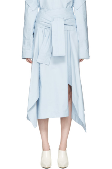 Marni - Blue Belted Wrap Skirt