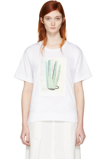 Marni - White & Green Ruth van Beek Edition Graphic T-Shirt