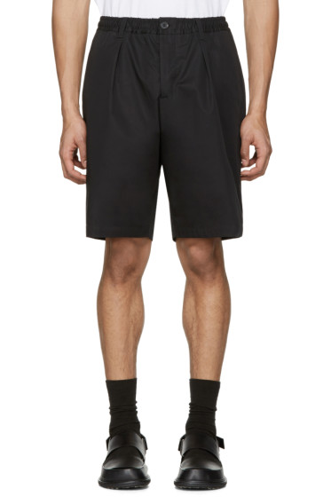 Marni - Black Cotton Twill Shorts