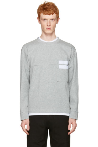 Marni - Grey Velcro Pocket Pullover
