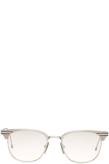 Thom Browne - Silver Round TB-104 Glasses
