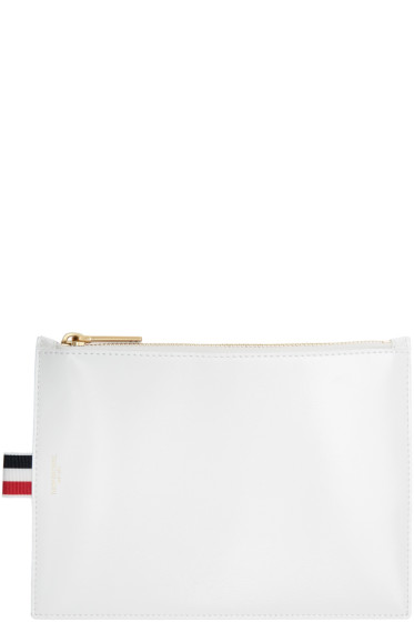 Thom Browne - White Large Coin Pouch