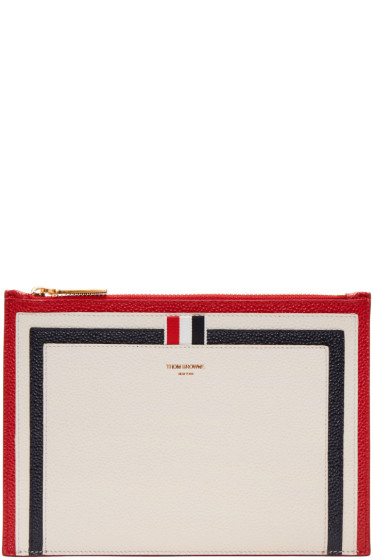 Thom Browne - Tricolor Large Pouch