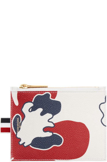 Thom Browne - Tricolor Small Floral Outline Coin Purse