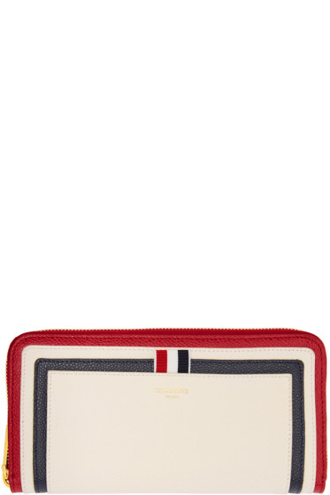 Thom Browne - Tricolor Long Zip Around Wallet