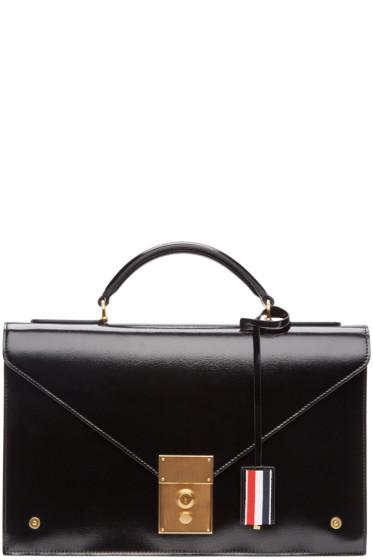 Thom Browne - Black Briefcase Bag
