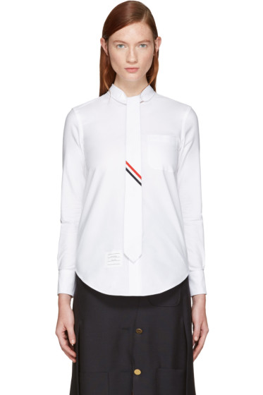 Thom Browne - White Necktie Shirt