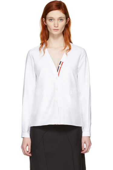 Thom Browne - White Cardigan Shirt