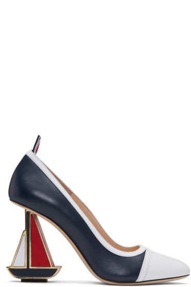 Thom Browne - Tricolor Funmix Sailboat Icon Heels