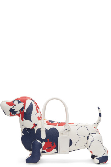 Thom Browne - Tricolor Floral Outline Hector Tote