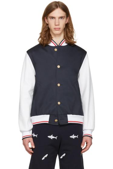 Thom Browne - Navy Varsity Jacket