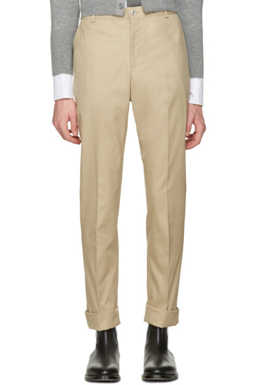 Thom Browne - Tan Twill Classic Chino Trousers