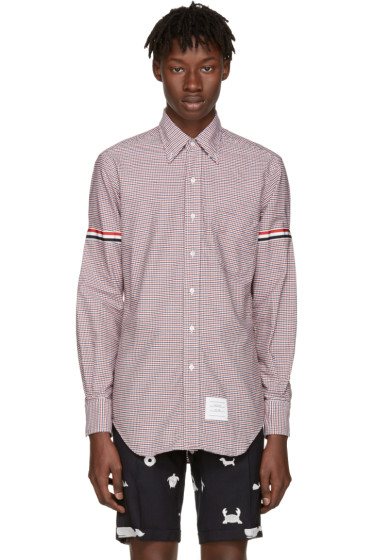 Thom Browne - Tricolor Classic University Check Grosgrain Shirt