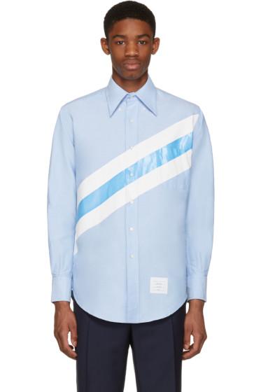 Thom Browne - Blue Diagonal Stripe Classic Shirt