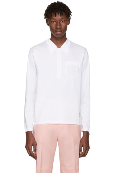 Thom Browne - White Trompe L'Oeil Polo T-Shirt