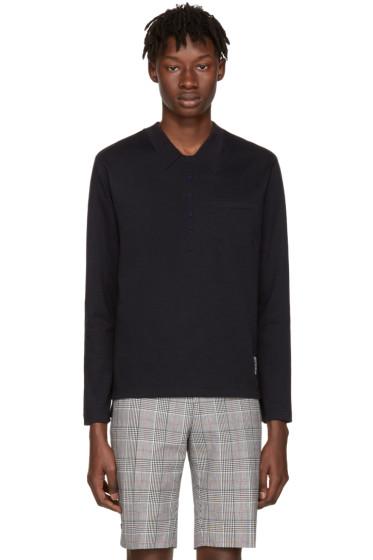 Thom Browne - Navy Trompe L'Oeil Polo T-Shirt