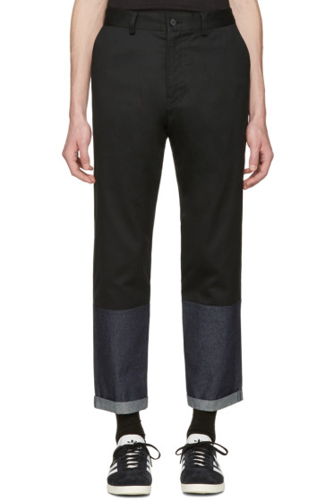 Markus Lupfer - Black Panelled Trousers