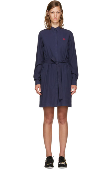 Kenzo - Navy Tiger Shirt Dress