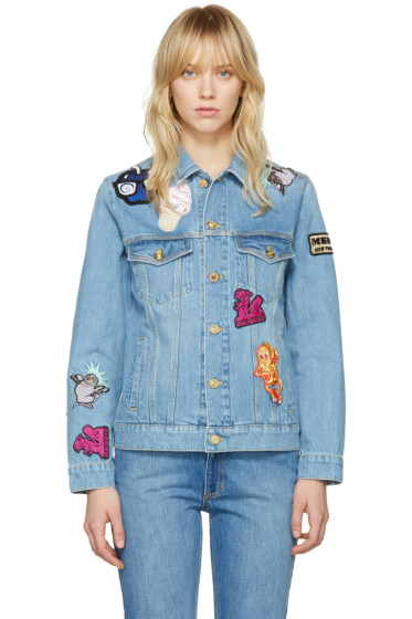Kenzo - Blue Denim Cartoon Patches Jacket